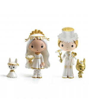 Tinyly-Figurine Marguerite et Léopold