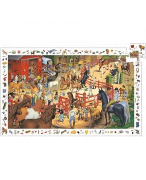 Puzzle d'observation & poster Equitation - 200 pcs Djeco