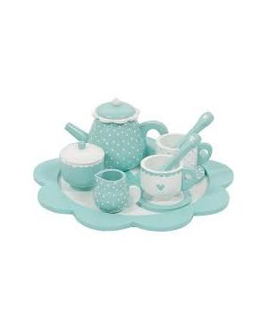 Service à thé en bois - mint