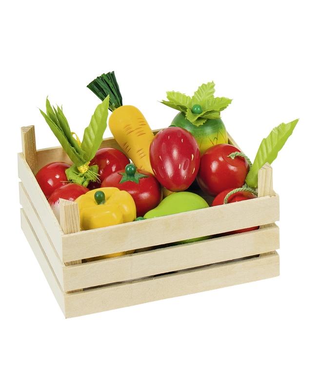 Fruits et légumes dans une cagette Goki