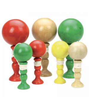 Bilboquet PM petit format en bois (coloris assortis)