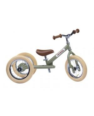 Trybike acier vintage draisienne verte