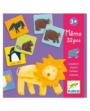 Mémo animaux couleurs 32...