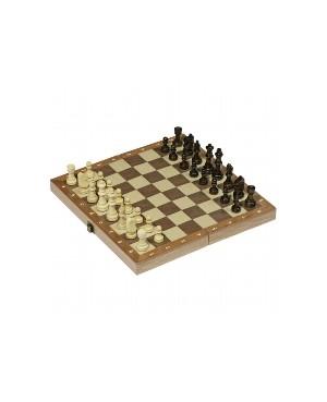 jeu d'échecs dans une boite en bois pliable