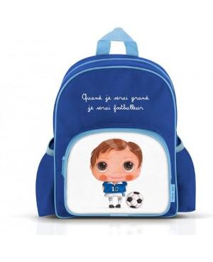 Petit sac à dos avec poches : Quand je serai grand, je serai footballeur Label'tour
