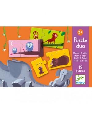 Puzzle duo maman et bébé 12 pièces Djeco