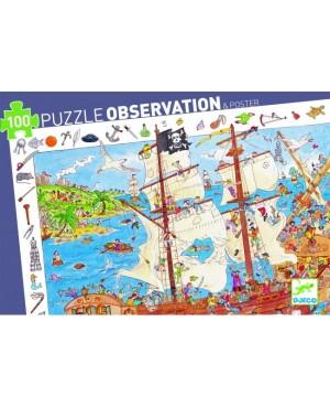 Puzzle observation Les pirates - 100 pièces Djeco