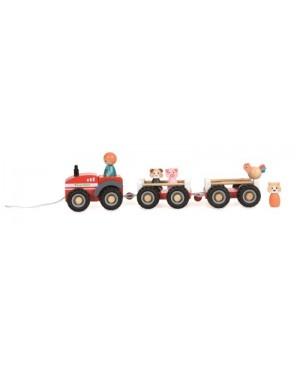 Tracteur de la ferme avec 2 remorques Egmont