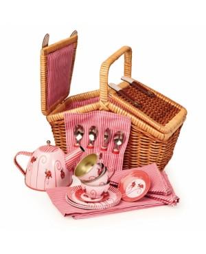 Panier osier service à thé