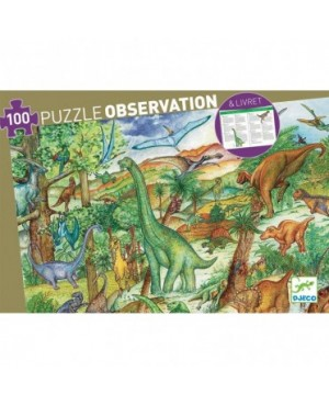 Puzzle observation Dinosaure - 100 pièces Djeco