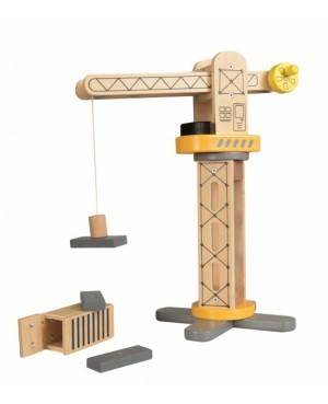 Grue de chantier en bois