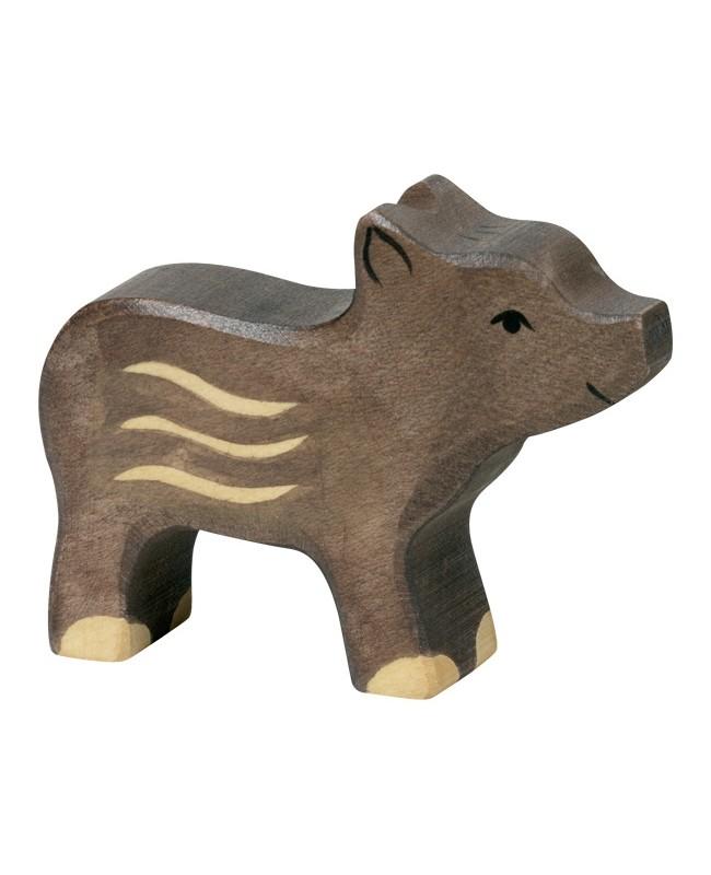 Figurine en bois Holztiger Marcassins