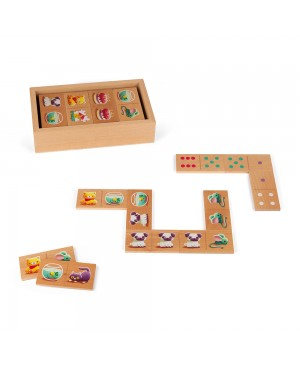 jeu de dominos- dominos 1ers mots en bois