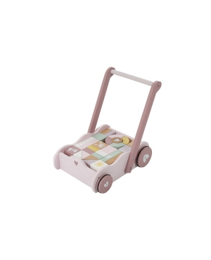 Chariot à blocs  rose- adventure pink Little Dutch