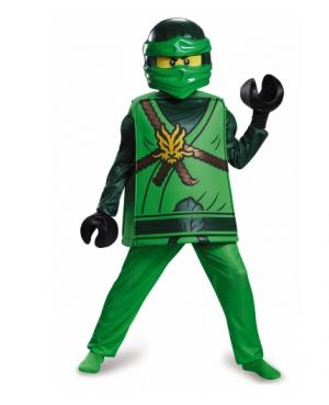 Déguisement deluxe Lloyd Ninjago®- LEGO® enfant (7 - 8 ans (124 - 136 cm))