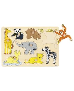 Bébés animaux, puzzle à encastrements Goki