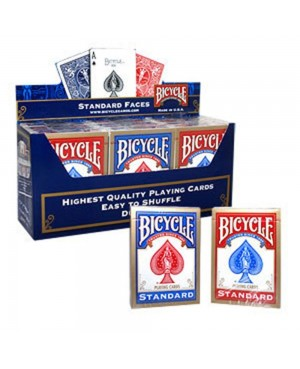 Carte bicycle standard bleu ou rouge