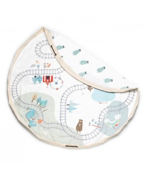 Play & Go Train 140cm Trainmap/bears sac rangement - tapis