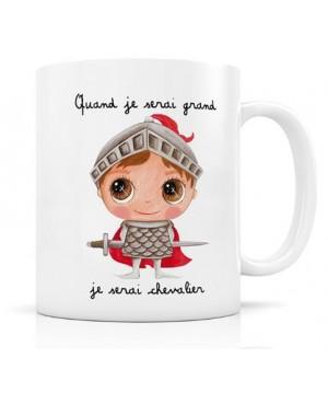 Mug céramique : Quand je serai grand, je serai chevalier Label'Tour