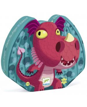 Edmond le dragon -Puzzle 24 pièces Djeco
