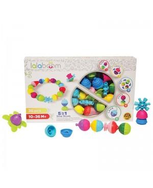 Perles éducatives et accessoires 36 pièces Lalaboom