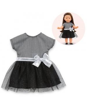 Robe de soirée noire et grise pour poupée ma Corolle
