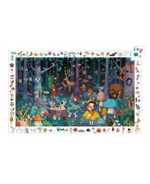 Puzzle observation La forêt enchantée - 100 pièces Djeco