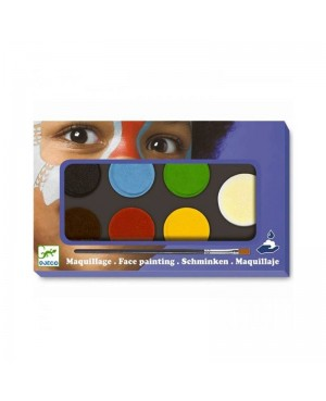 Maquillage Palette 6 couleurs - nature Djeco