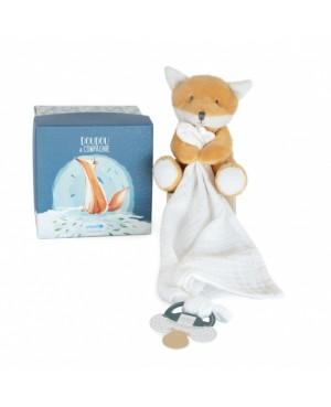 UNICEF Pantin avec doudou attache-sucette renard