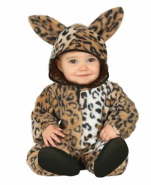 Déguisement Léopard peluche bébé 6-12 mois.