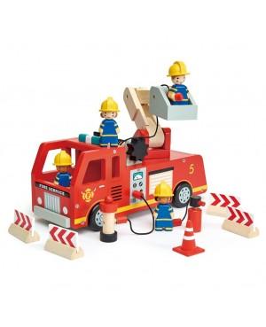 Camion de pompier Tender Leaf Toys