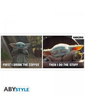 THE MANDALORIAN - Mug - 320 ml - Baby Yoda coffee meme