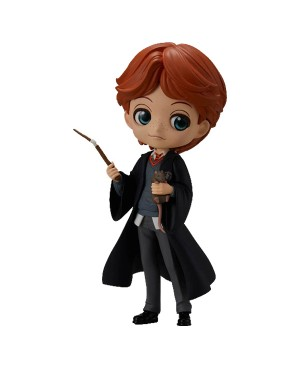 Harry Potter Q Posket Ron With Scabbers 14cm