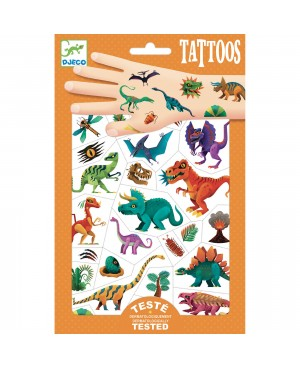 Tatouages Dino Club Djeco
