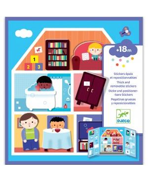 Stickers épais et repositionnables : A la maison Djeco
