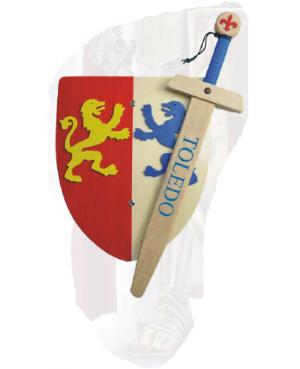 Epée avec bouclier deux couleurs