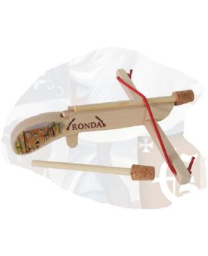 Pistolet en bois 2 flèches avec carquois