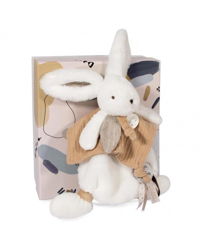 HAPPY WILD Doudou pompon naturel 25 cm Doudou et compagnie