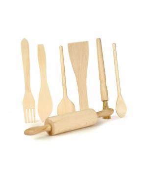 Set de 7 accessoires en bois Egmont Toys
