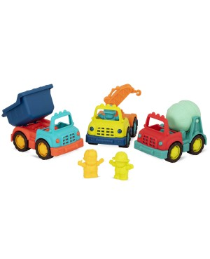 Happy Cruisers - Ensemble de camions de construction B Toys