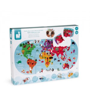 Puzzle Carte des explorateurs du bain Janod