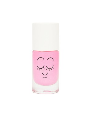 Vernis enfant base eau - Dolly - rose néon nacré Nailmatic