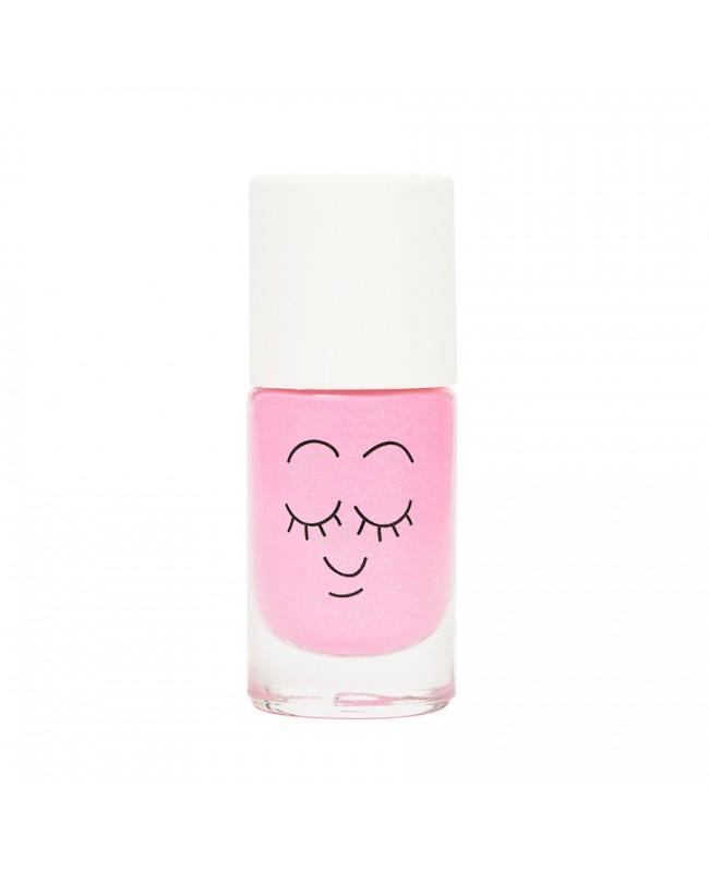 Vernis enfant base eau - Dolly - rose néon nacré Nailmatic