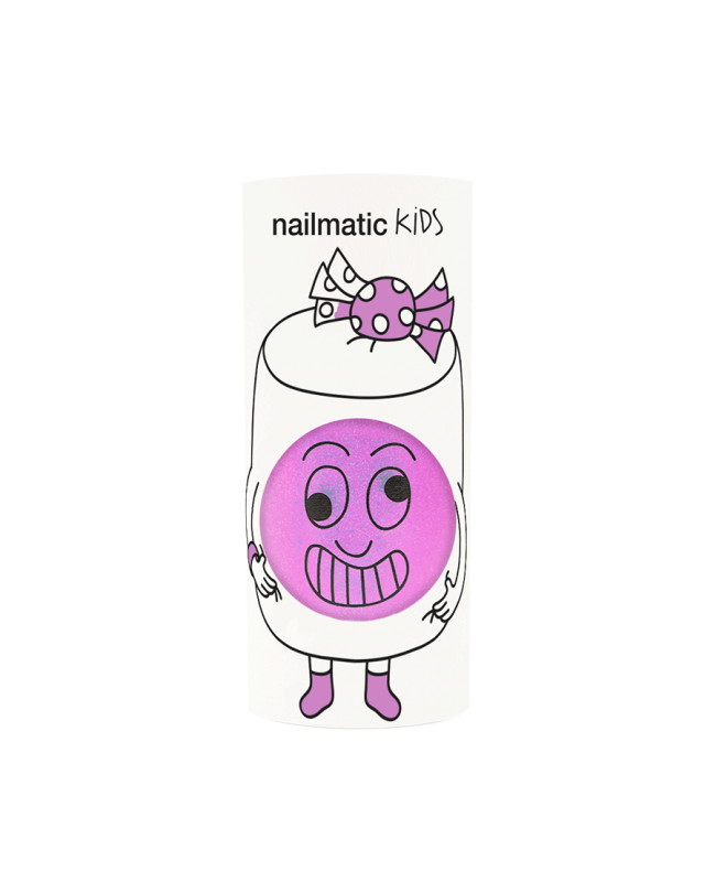 Vernis enfant base eau - Marshi - lilas néon nacré Nailmatic