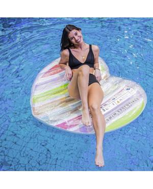 Flotteur arc-en-ciel gonflable 150x160cm Swim Essentials