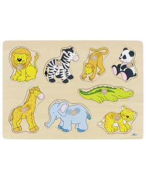 Animaux du zoo, puzzle à encastrements Goki