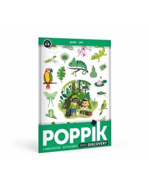 Mini Poster Jungle (3-8 ans) 22 stickers Poppik