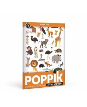 Mini Poster La Savane (3-8 ans) 27 stickers Poppik