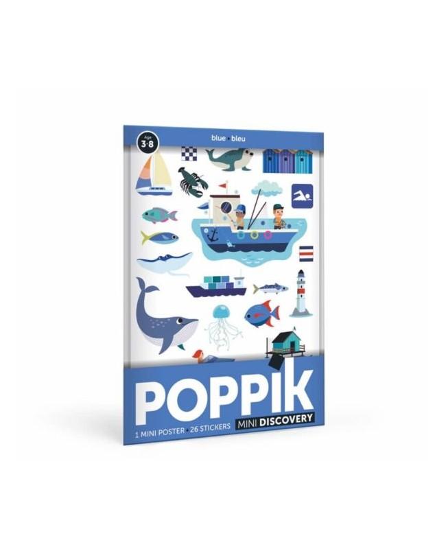 Mini Poster La Mer ( 3-8 ans)  26 stickers Poppik