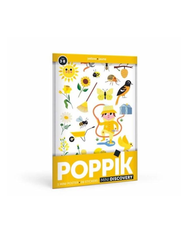 Mini Poster Le Jardin (3-8 ans) 24 stickers Poppik